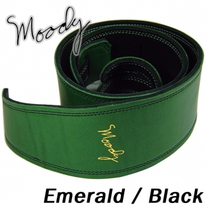 "Moody 무디 스트랩/멜빵 Leather / Suede - 2.5"" - Std ( Emerald / Black )뮤직메카"