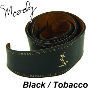 "Moody 무디 스트랩 Leather / Suede - 2.5"" - Std (Black / Tobacco)뮤직메카"