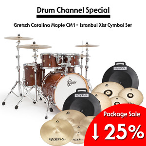 Gretsch 그레치 드럼세트 New Catalina Maple CM1 + Istanbul Xist Cymbal Set Package 풀패키지