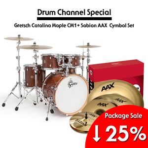 Gretsch 그레치 드럼세트 New Catalina Maple CM1 + Sabian AAX Performance Limited Set Package 풀패키지