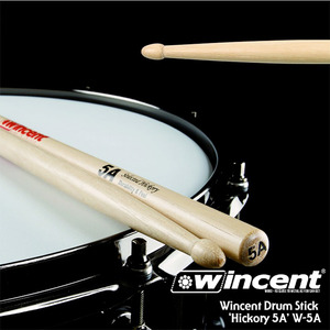 Wincent 빈센트 드럼스틱 Hickory 5A Drum Stick (W-5A)