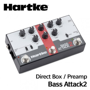 Hartke 하케 베이스 이펙터 Bass Attack 2 (Bass Preamp/Direct Box with Overdrive) 뮤직메카