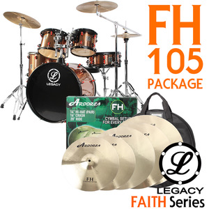 "Legacy 레거시 드럼세트 풀옵션 Faith Series FH105  (Arborea FH 18"" Set)"