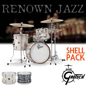 Gretsch New Renown Maple Jazz Kit (4기통 쉘팩) RN2 /그레치/리나운/RN2-J484