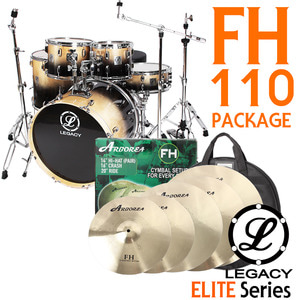 "Legacy 레거시 드럼세트 풀옵션 Elite Series FH110 (Arborea FH 18"" Set)"