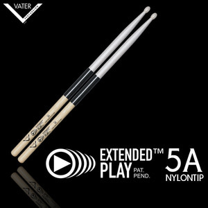 Vater 베이터 드럼스틱 Extended Play 5A Nylon Tip(압도적인 내구성!) / VEP5AN뮤직메카