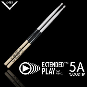 Vater 베이터 드럼스틱 Extended Play 5A Wood Tip(압도적인 내구성!) / VEP5AW