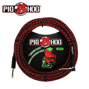 PIG HOG 피그호그 기타 케이블 TARTAN PLAID 6m INSTRUMENT CABLE, RIGHT ANGLE