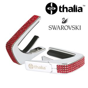 Thalia 탈리아 카포 Swarovski Ruby Crystal Inlay / Chrome C200-SC-S