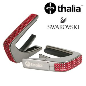 Thalia 탈리아 카포 Swarovski Ruby Crystal Inlay / Black Chrome B200-SC-S