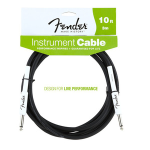 Fender 펜더10ft(=3m) Instrument Cable Performance Seris Cable뮤직메카