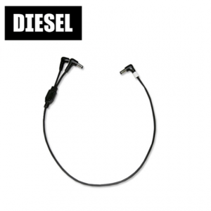 DIESEL 디젤 DC케이블 페달용 DC Cable Voltage Doubler 2.1 pi (Y자형 볼트+볼트)뮤직메카